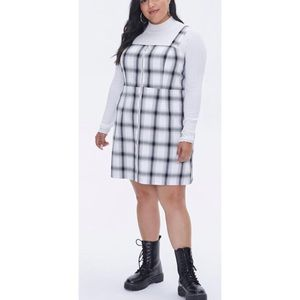 FOREVER 21+ Plaid Zippered Overall Dress Plus Size